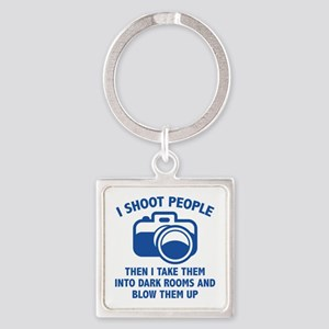 I Shoot People Square Keychain