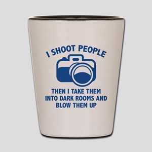 I Shoot People Shot Glass