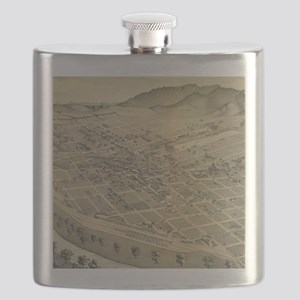 Vintage Pictorial Map of El Paso Texas (1886 Flask