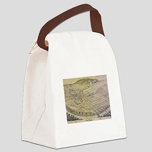 Vintage Pictorial Map of El Paso  Canvas Lunch Bag