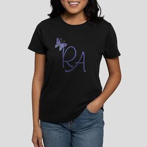 Butterfly Blue RA Women's Dark T-Shirt