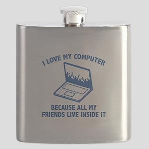 I Love My Computer Flask
