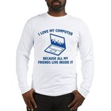 Computer gamer Long Sleeve T-shirts