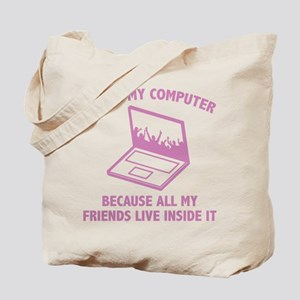 I Love My Computer Tote Bag