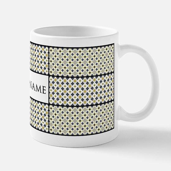 Personalized Name Tile Pattern Mug