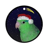 Parrotlet christmas Round Ornaments