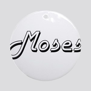 Moses surname classic design Ornament (Round)