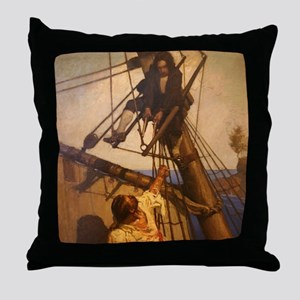 One more step Mr. Hands - N.C. Wyeth  Throw Pillow