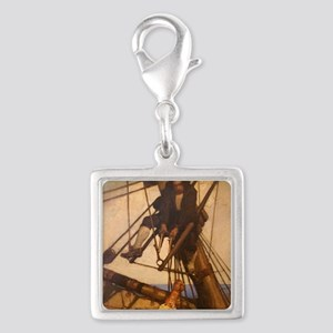 One more step Mr. Hands - N.C Silver Square Charm