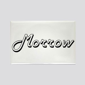 Morrow surname classic design Magnets