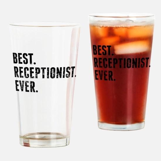 Best Receptionist Ever Drinking Glass
