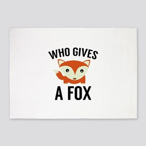 Who Gives A Fox 5'x7'Area Rug