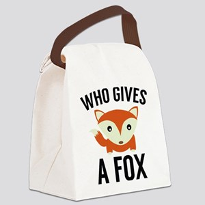 Who Gives A Fox Canvas Lunch Bag