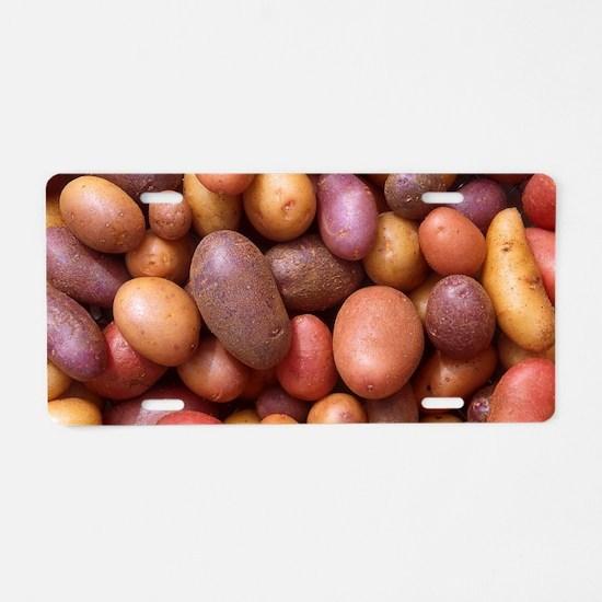 Potatoes Aluminum License Plate