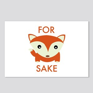 For Fox Sake Postcards (Package of 8)