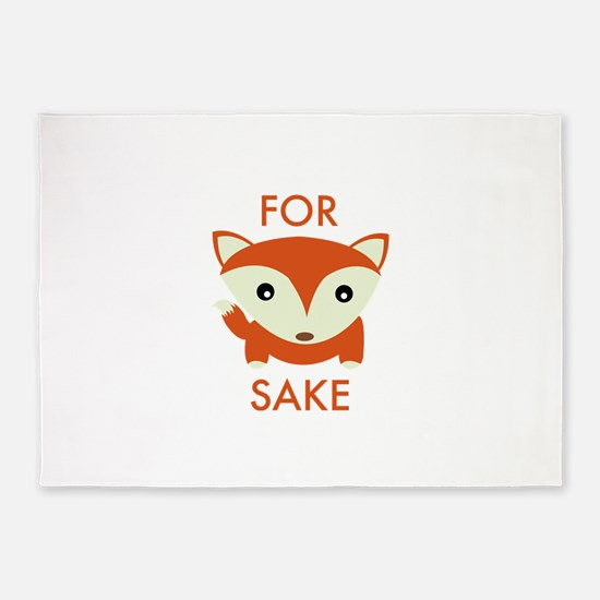 For Fox Sake 5'x7'Area Rug