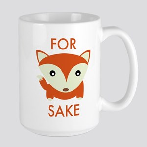 For Fox Sake Large Mug