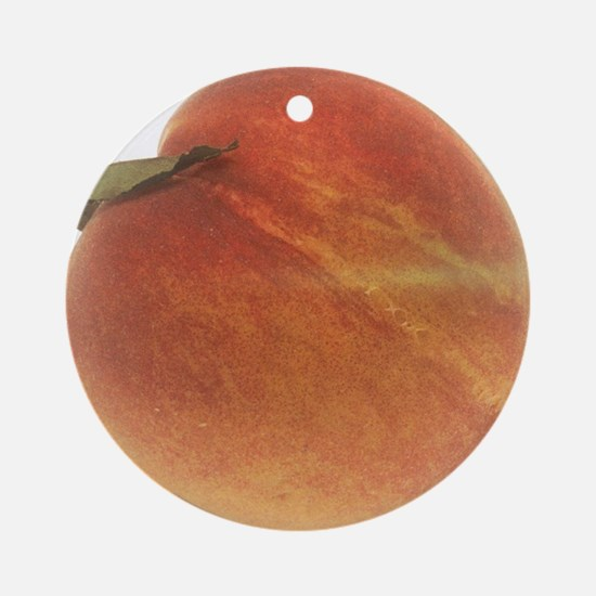 Georgia Peach Round Ornament