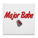 USCG Major Babe Tile Coaster