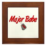 USCG Major Babe Framed Tile