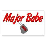 USCG Major Babe Rectangle Sticker