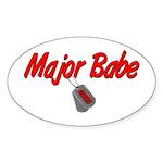 USCG Major Babe Oval Sticker
