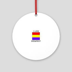 I Love Budapest Ornament (Round)