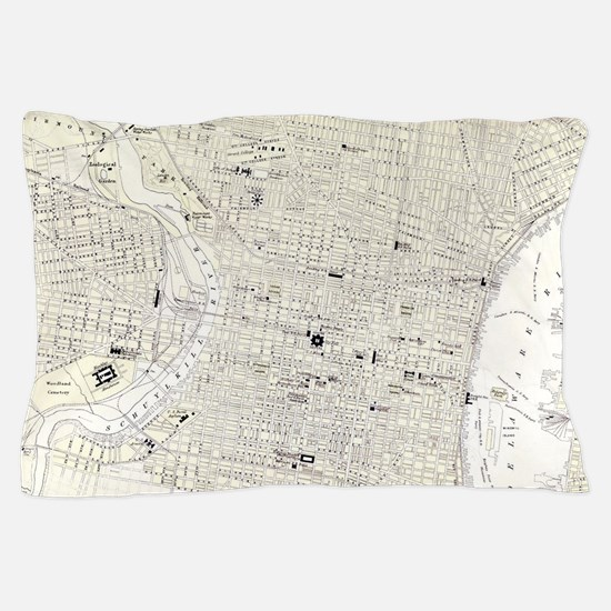 Vintage Map of Philadelphia (1885) Pillow Case