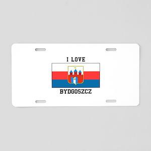 I Love Bydgoszcz Aluminum License Plate