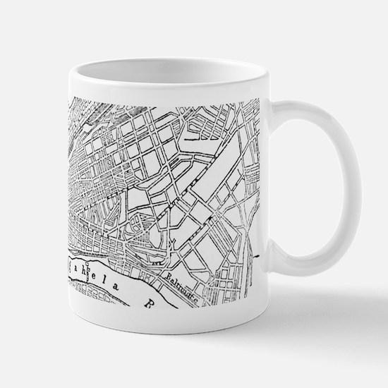 Vintage Map of Pittsburgh (1885)  Mug