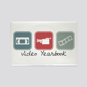 Video Yearbook (Squares) Rectangle Magnet