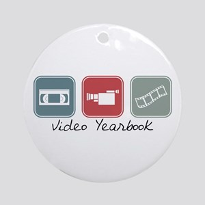 Video Yearbook (Squares) Ornament (Round)