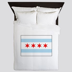 Chicago, Illinois USA Queen Duvet