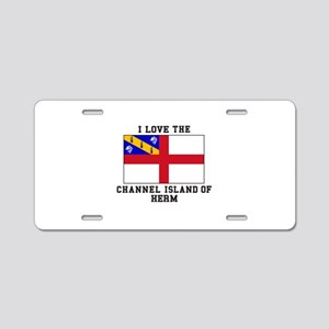 I Love Channel Island of Herm Aluminum License Pla