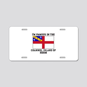 Famous Channel Island of Herm Aluminum License Pla