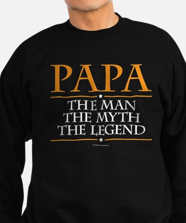 Grandpa Man Myth Legend Sweatshirt (dark)