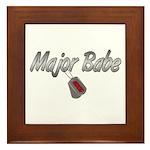 USCG Major Babe ver2 Framed Tile
