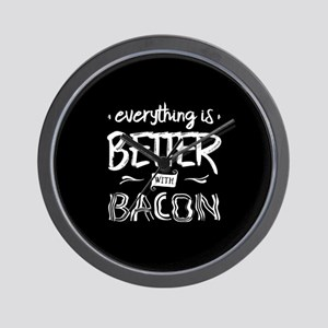 Better With Bacon Wall Clock