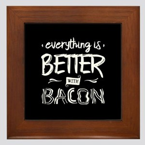 Better With Bacon Framed Tile