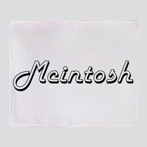 Mcintosh surname classic design Throw Blanket