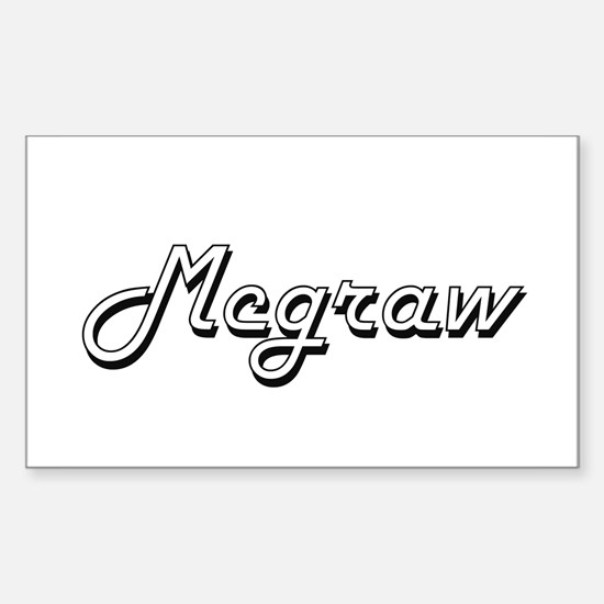 Mcgraw surname classic design Decal