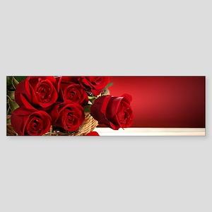 Superb Red Roses Bumper Sticker