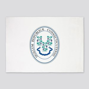 Connecticut State Seal 5'x7'Area Rug