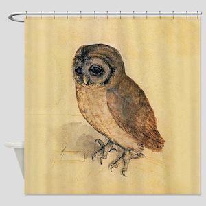 Albrecht Durer Little Owl Shower Curtain
