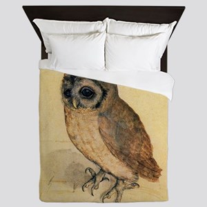 Albrecht Durer Little Owl Queen Duvet