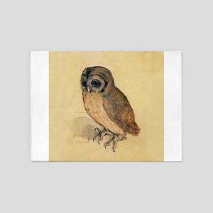 Albrecht Durer Little Owl 5'x7'Area Rug