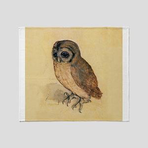 Albrecht Durer Little Owl Throw Blanket