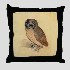 Albrecht Durer Little Owl Throw Pillow