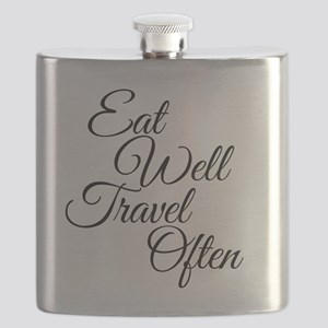 Eat Well Travel Often Flask