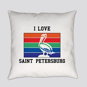 I Love Saint Petersburg Everyday Pillow